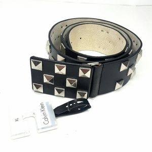 Calvin Klein Men's Leather Studded Belt XL